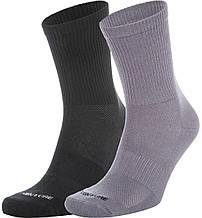 Носки Outventure, 2 пары, серый/черный, 35-38