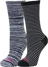 Носки женские Skechers, 2 пары, черно-белый, 36-41