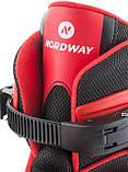 Коньки раздвижные детские Nordway Click-boy, Красный, 26-29, фото 5