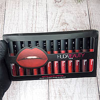 Подарочный набор жидких матовых губных помад Huda Beauty 12 цветов (живые фото)