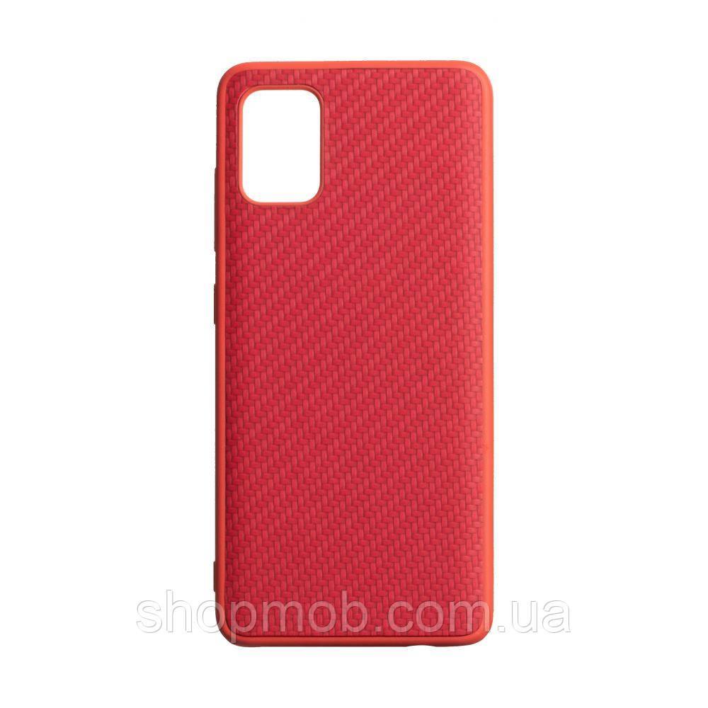 Чохол Carbon for Samsung A51 Колір Червоний