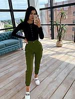 Комплект брюки карго+боди, разные цвета