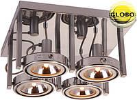 Подвесной поворотный хромовый светильник Globo Kuriana 4х52Вт G9