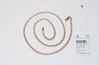 Серебряная цепочка лав 925 с позолотой 585 пробы