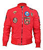Бомбер Top Gun MA-1 Nylon Bomber Jacket with Patches TGJ1540P (Red)