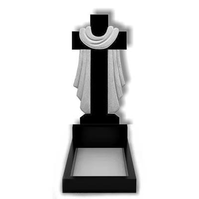 Памятник в виде креста из гранита (100 см) К-02