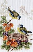 """Набор для вышивания крестом """"Luca-s""""  B215 Птички у гнезда"""