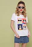 Женская белая футболка Девочки-Очки, фото 2