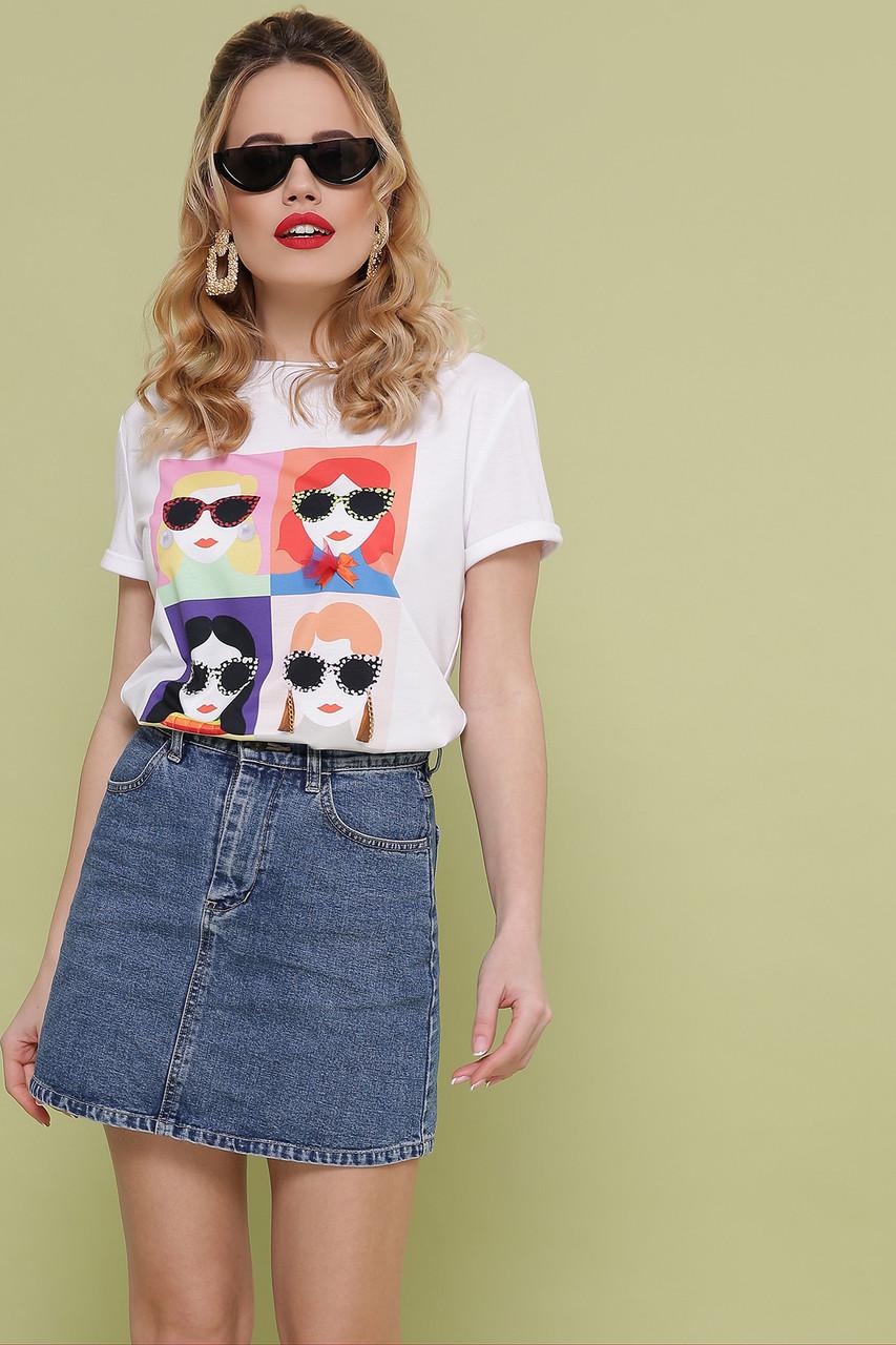 Женская белая футболка Девочки-Очки