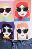 Женская белая футболка Девочки-Очки, фото 5