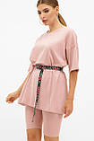 Женская розовая футболка оверсайз Хизер 2, фото 3