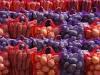 Мешок для овощей и фруктов  (сетчатый мешок, cетка овощная) 40х60 фиолетовый и красный