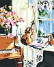Картина по номерам Скрипка (цветной холст) 40*50см Розпис по номерах, фото 2