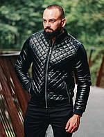 Мужская куртка (весна/осень) черного цвета