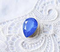 Стразы Капля 10х14 мм, синий опал