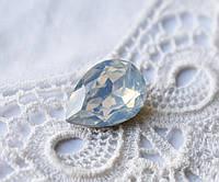 Стразы Капля 10х14 мм, бледно-голубой опал