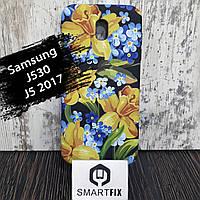 Чехол с рисунком для Samsung J5 (J530) 2017 Цветочный микс