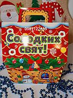 Новогодняя коробка для конфет 1000г