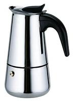 BN-149 (36шт) Гейзерная кофеварка нерж 3 чашки