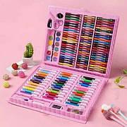 Набор для рисования и творчества в чемоданчике Super Mega Art Set 150 предметов - розовый
