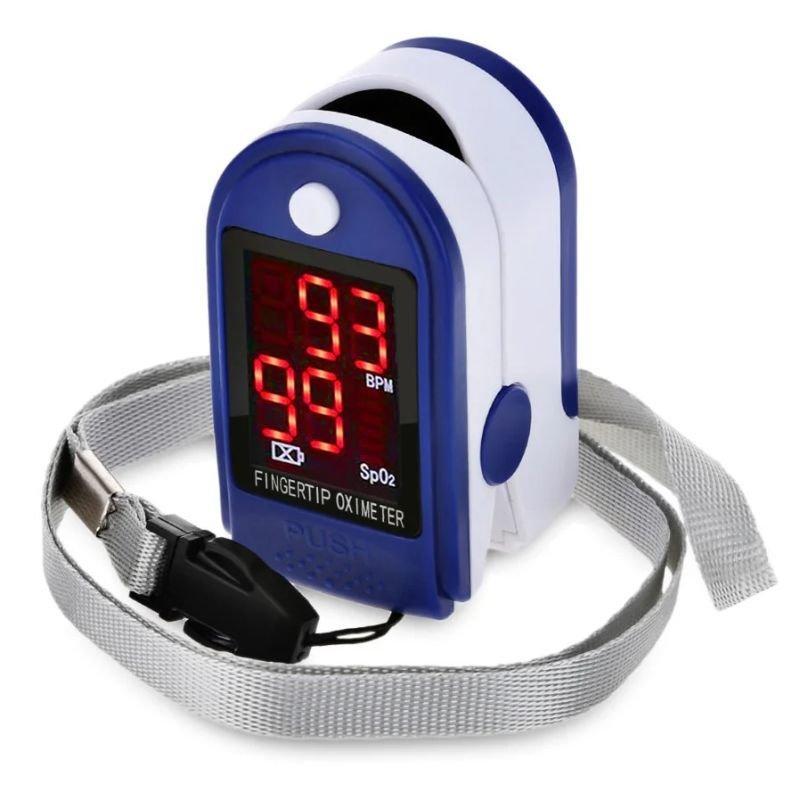 Портативный пульсоксиметр на палец для измерения сатурации кислорода и частоты пульса Jzk302