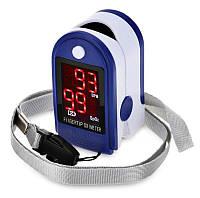 Портативный пульсоксиметр на палец для измерения сатурации кислорода и частоты пульса Jzk302, фото 1