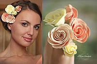 """Свадебные украшения""""Викторианские розы"""" заколки шпильки для волос"""