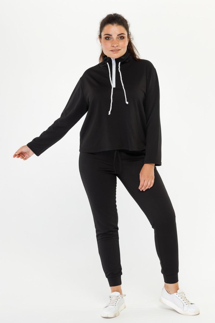 Спортивний жіночий костюм чорного кольору