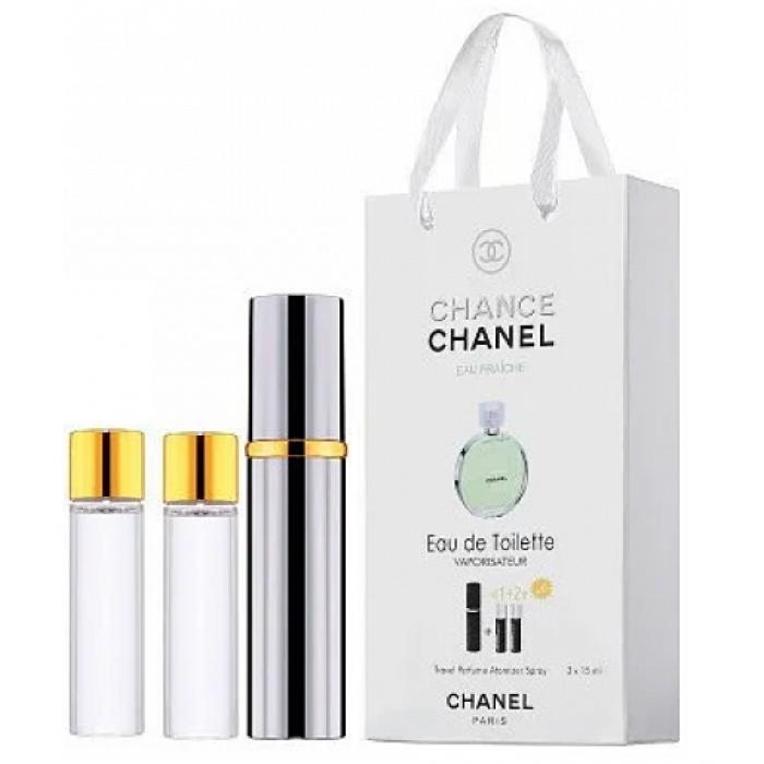 Мини-парфюм с феромонами женский CHANEL Chance Eau Fraiche 3х15 мл