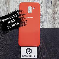 Силиконовый чехол для Samsung J6 2018 (J600)  Розовый, фото 1