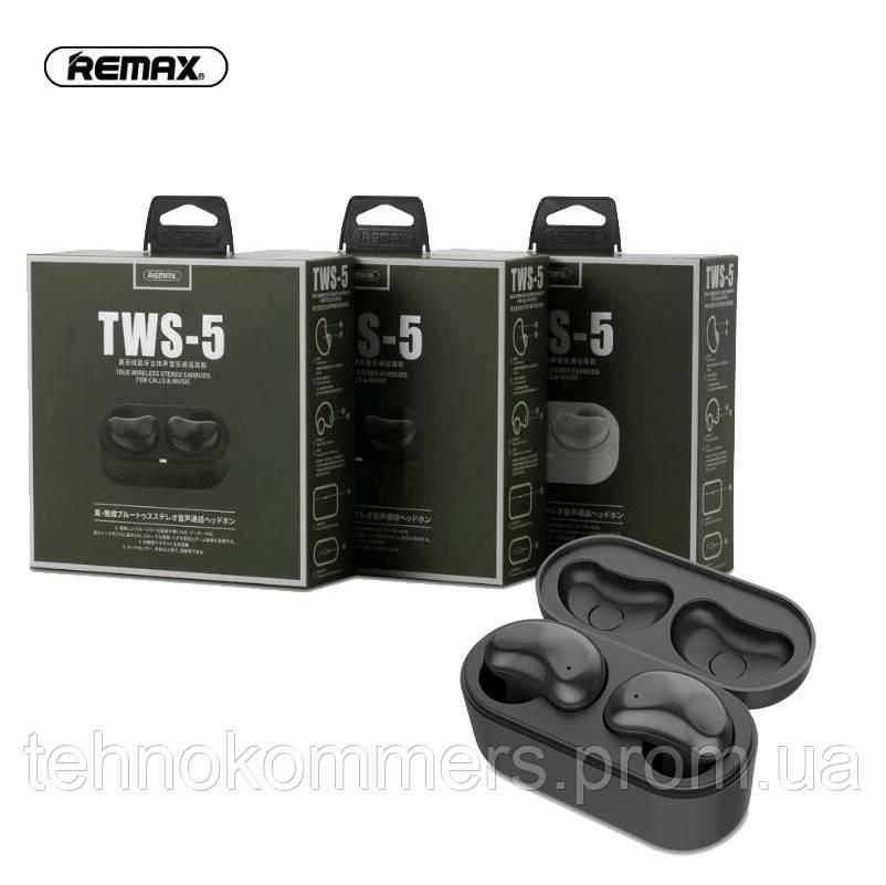 Навушники Remax TWS-5 Black