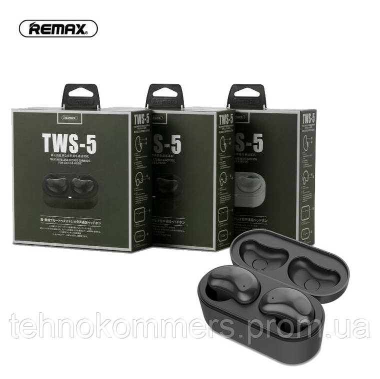 Навушники REMAX True WIreless Stereo Earbuds For Calls & Music TWS-5, фото 2