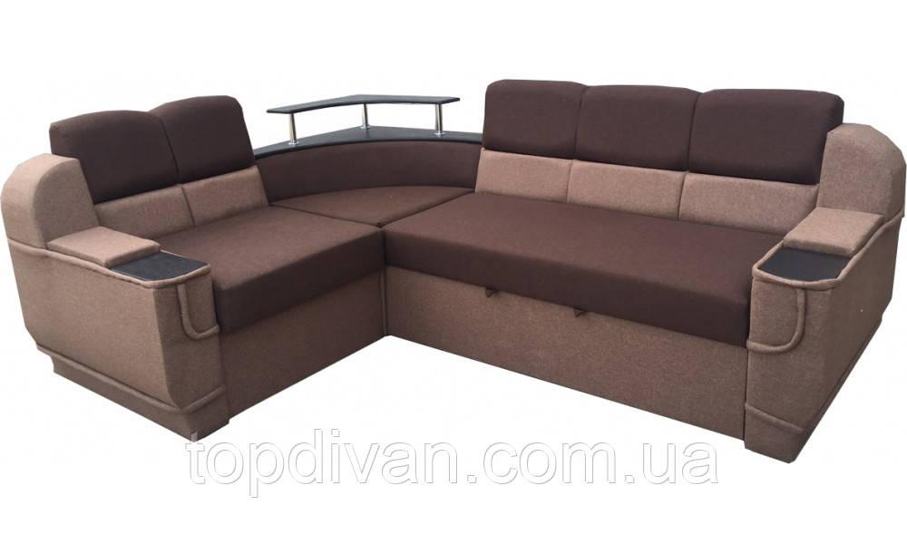 """Угловой диван """"Бенвинето"""" Brown  (угол взаимозаменяемый)"""
