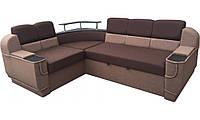 """Угловой диван """"Бенвинето"""" Brown  (угол взаимозаменяемый), фото 1"""
