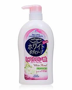 Kose Softtymo White Body Soap Гель для душа с гиалуроновой кислотой, цветочный аромат, 600 мл.