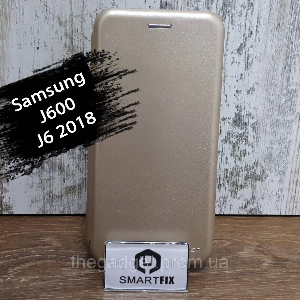 Чохол книжка для Samsung J6 2018 (J600) G-Case Золотий