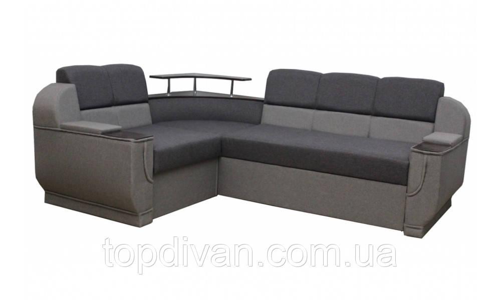 """Угловой диван """"Бенвинито"""" Gray (угол взаимозаменяемый)"""