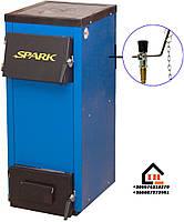 Классический твердотопливный котел с чугунной плитой+регулятор тяги Spark-Heat 18 квт