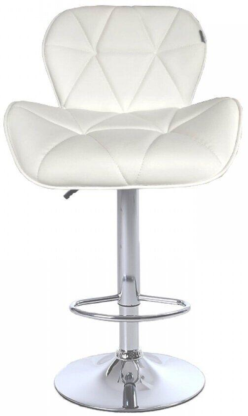 Барный стул хокер Bonro белый B-868M с широкой спинкой и большим сиденьем
