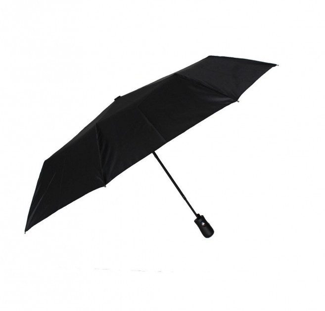 Чоловічий зонт складаний Monsoon uk1963 на 9 спиць напівавтомат чорний