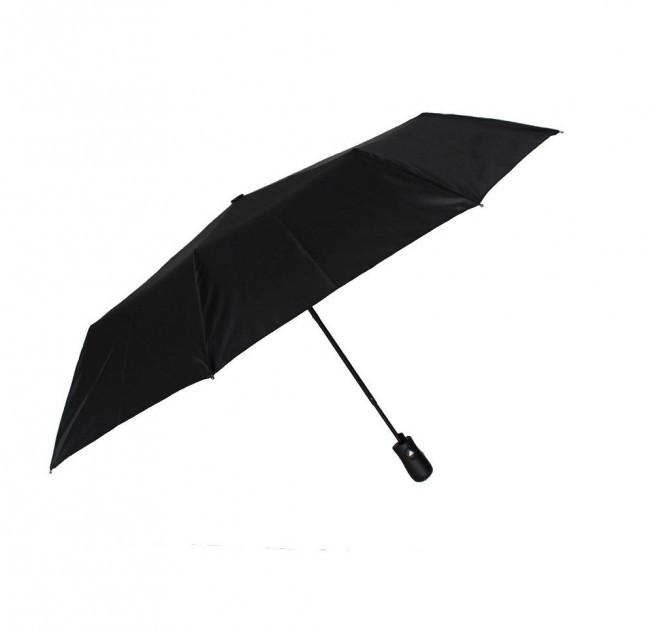 Мужской зонт складной Monsoon uk1963 на 9 спиц полуавтомат черный