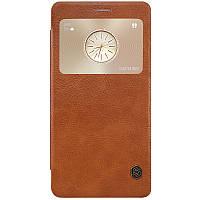 Кожаный чехол Nillkin Qin для Huawei MATE S коричневый