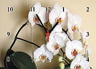 """Часы настенные стеклянные """"Ветка орхидеи"""", фото 1"""