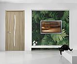 Міжкімнатні двері Новий стиль екошпон Гармонія зі склом сатин, колір Кедр, фото 3