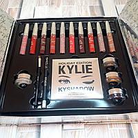 [ БОЛЬШОЙ ] Набор косметики на подарок любимой девушке, женщине Kylie Кайли помада, тени (Оригинальные фото)