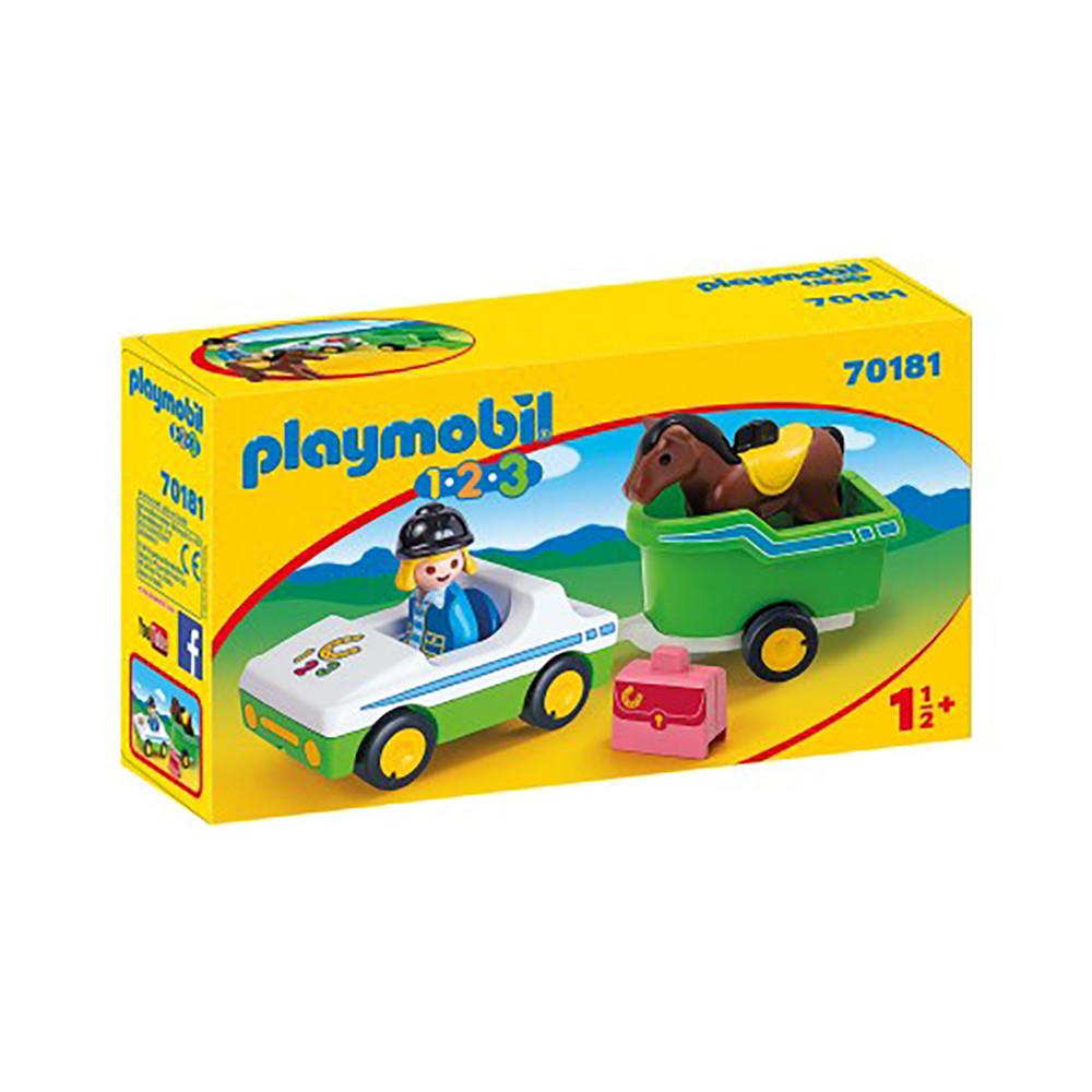 """Игровой набор """"Машина с повозкой и лошадью"""" Playmobil (4008789701817)"""