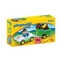 """Игровой набор """"Машина с повозкой и лошадью"""" Playmobil (4008789701817), фото 1"""