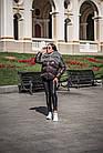 Комбинированный Пуховик С Мехом Козлика Темный Графит 025ТП, фото 6
