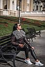 Комбинированный Пуховик С Мехом Козлика Темный Графит 025ТП, фото 9