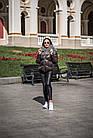 Комбинированный Пуховик С Мехом Козлика Темный Графит 025ТП, фото 4